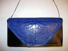 Cobalt Blue Alligatrix Flap Bag Back Closed - Web.JPG